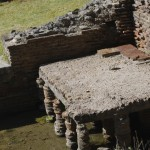 Substructure in the Roman bath, with marsh water