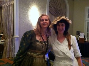 Gorgeous authors Kris Waldherr and Stephanie Lehmann at the costume pageant