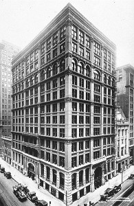 William LeBaron Jenney's Home Insurance building of Chicago, whose status as the world's first skyscraper Buffington disputed