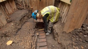 Finding the remains of the Curtain Theater (Image credit: Museum of London Archaeology/AP Photo)