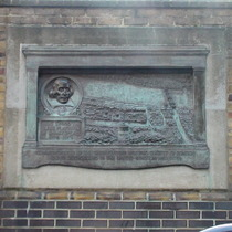 This plaque was fixed to the wall of the brewery Barclay, Perkins & Co. in 1909.