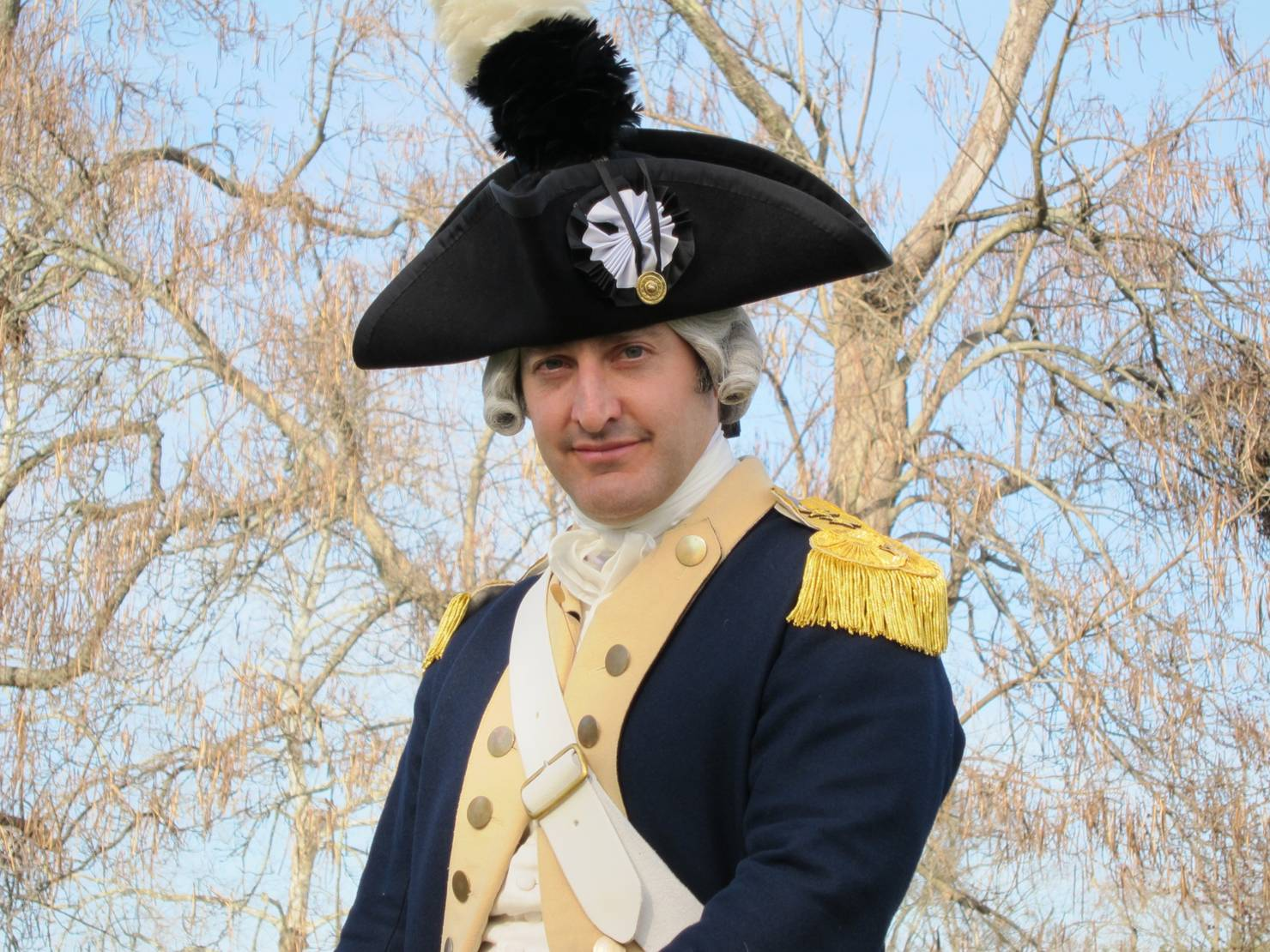 Shukla photo, Marquis de Lafayette at Colonial Williamsburg