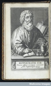 L0046422 Portrait of Hippocrates Credit: Wellcome Library, London. Wellcome Images images@wellcome.ac.uk http://wellcomeimages.org Portrait of Hippocrates (Hippocratis) 1665 Magni Hippocratis Coi opera omnia / name Published: 1665. Copyrighted work available under Creative Commons Attribution only licence CC BY 4.0 http://creativecommons.org/licenses/by/4.0/