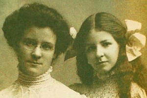 Katharine Briggs, left, and daughter Isabel Myers,