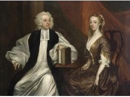 Portrait of Bishop Robert Clayton (1695-1758) with his wife Katherine. c. 1740. James Latham. Source: Wikimedia Commons.