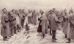 Christmas Truce-1914 by A.C. Michael. Illustrated London News