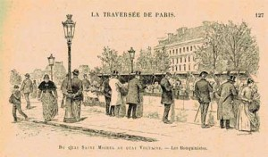 The bouquinistes of the Quai Saint Michel in the nineteenth century.