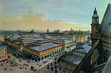 Les Halles, circa 1870
