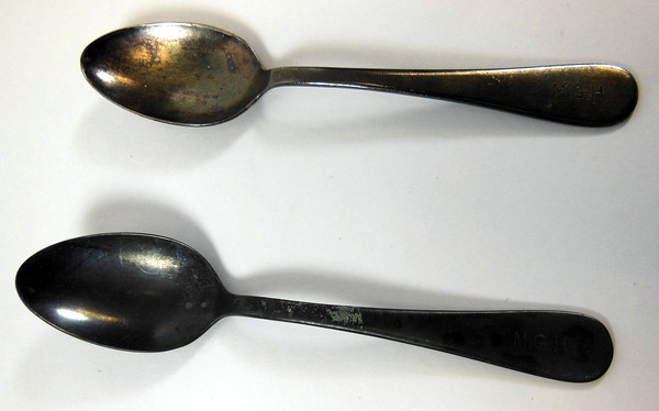 Two spoons.