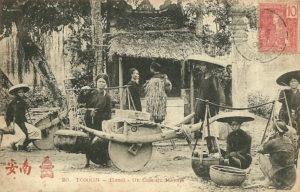 TONKIN-Hanoï-Un Coin du Marché 1906