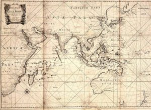 The official trading area of the Dutch East India Company, according to its charter