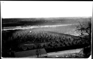 An internment camp for Dakota Indians on the Minnesota River below Fort Snelling, Minnesota
