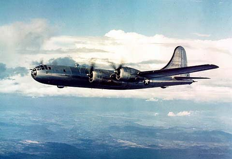 A B-29 Superfortress in flight