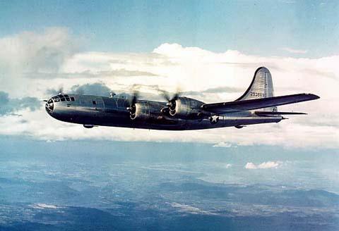 A B-29 Superfortress in flight