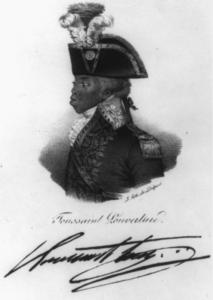 Portrait of Haitian revolution leader Toussaint Louverture by Nicolas Maurin (1832).