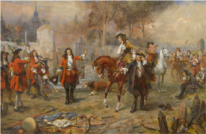 the-duke-of-marlborough-and-prince-eugene-of-savoy-at-blenheim-robert-alexander-hillingford